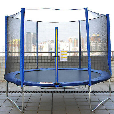 8FT 10FT 12FT Trampoline With Enclosure Safety Net Pad Ladder Rain Cover Springs