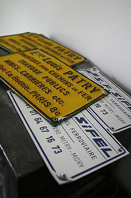 LOT 4 PLAQUES DE LOCOMOTIVE ALUMINIUM Loco SNCF Train Vintage industriel