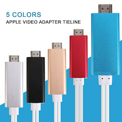 Neu 8 Pin To HDMI HDTV AV Charging Cable Cord Compact For iPhone iPad iOS