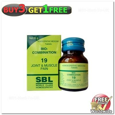 SBL Homeopathy OTC Bio-Combination No19 Joint & Muscle Pain 25g {BUY3 GET1 FREE}