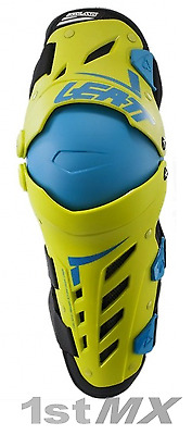 Leatt Dual Axis Knee and Leg Guards Motocross Pair Adult Lime Green Small Medium
