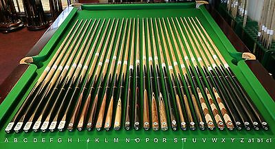 Peradon Hand Spliced Snooker Cue Range, 3/4 & 2pc, Chesworth Cues, Sheffield