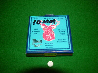 (New Stock) Box of 50 ELK MASTER SNOOKER / POOL / TIPS Chesworth Cues Sheffield