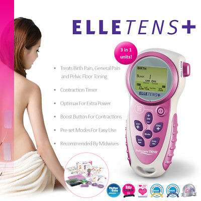 Elle TENS Plus Maternity TENS 3-in-1 with contraction timer, TENS, EMS and PFS