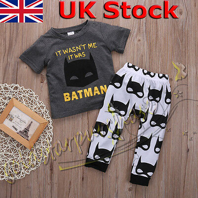 Newborn Infant Kids Baby Boys Clothes T shirt Tee Top Pants Outfits Set 0-24M