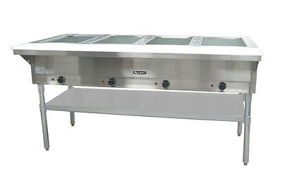 Commercial Kitchen 4 Bay Electric Steam Table 64""