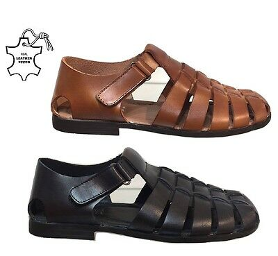 Mens New Soft Leather Walking Summer Holiday Beach Mules Sandals Shoes Uk 6 - 11