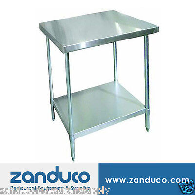 "Zanduco Stainless Steel Worktable 30"" X 36""-Standard"