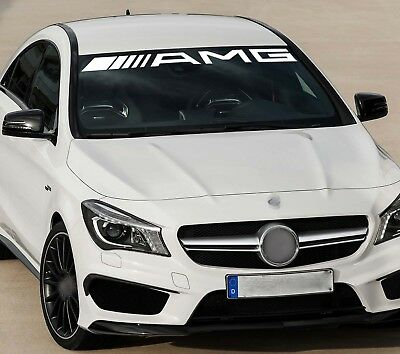 AMG Mercedes Benz Car VINYL STICKERS Bumper Windshield BANNER JDM DECALS