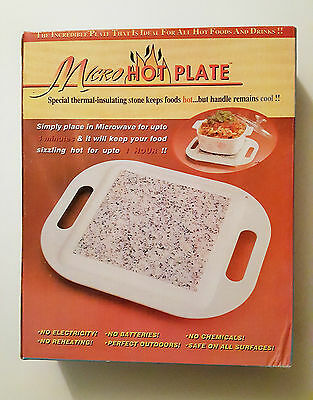 Micro Hot Plate Microwavable Serving Stone Tray