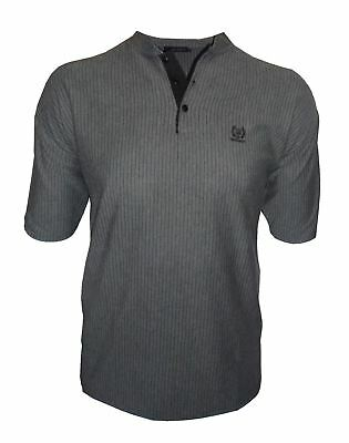 Men's Easy Care Grandad Collar Casual Tee Shirt in Size L to 5XL, 4 Options