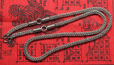 5.6 mm 3hook 28 Inches Stainless Steel Necklace Solid for thai amulet handmade@9