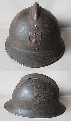 Wwii French Adrian Helmet Model 1926 M26 / Civil Defence / Défence Passive