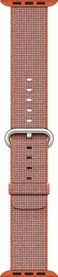 Apple - Woven Nylon for Apple Watch 42mm - Space Orange/Anthracite MNKF2AM/A