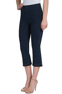 b92cc74fef4 LYSSE DENIM CUFFED Crop Legging Ankle Zip Striped Navy Blue 1280 ...