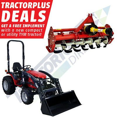 FREE! TS51 Rotary Tiller with TYM T254 Hydrostatic Tractor + front loader