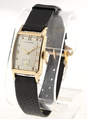 Hamilton Vintage Watch 40's 10K Gf 19 Jewels Runs