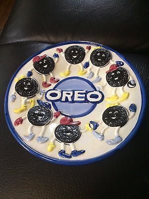 "Nabisco  Classics Collection 9"" Oreo Cookies Ceramic Plate Free Shipping"