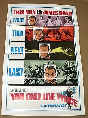 You Only Live Twice 1967 Original Teaser Poster James Bond 007 Sean Connery NICE