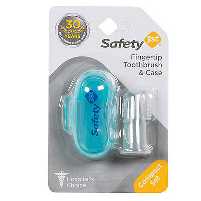 NEW Safety 1st Infant Fingertip Toothbrush & Case