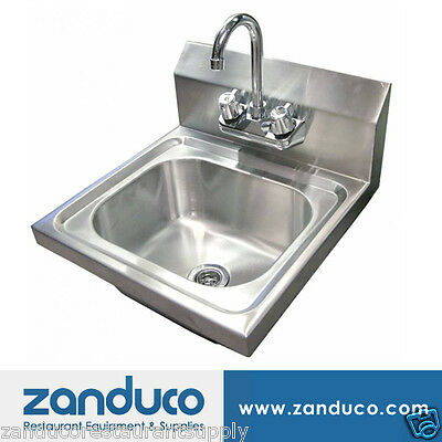 "Omcan Wall Mounted Hand Sink with 4"" Faucet"