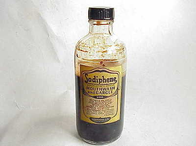 VERY Vintage Sodiphene Mouthwash & Gargle Bottle