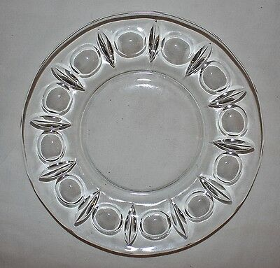 Set of 8 Antique Salad Plates Large Bubble Trim Pattern Pristine Condition