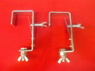 2 x SoundLab Heavy Duty 50mm G Clamp with Tube Protection Plate G001YGD