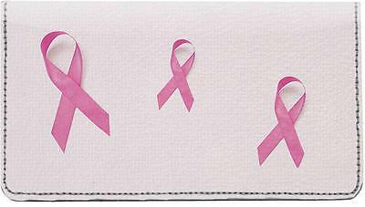 Breast Cancer Awareness Leather Checkbook Cover