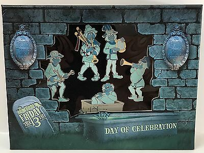 Disney WDW Haunted Mansion Friday The 13th Ghost Musicians LE 500 Boxed Pin Set