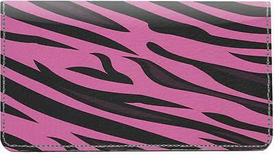 Pink Animal Prints Checkbook Cover
