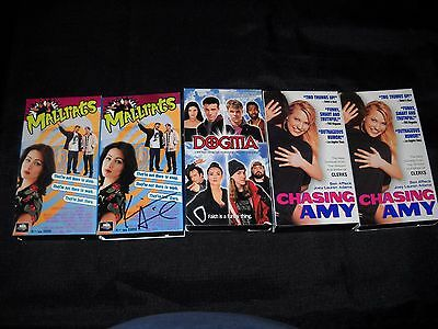 Kevin Smith 5 Vhs Lot Mallrats Dogma Chasing Amy One Signed
