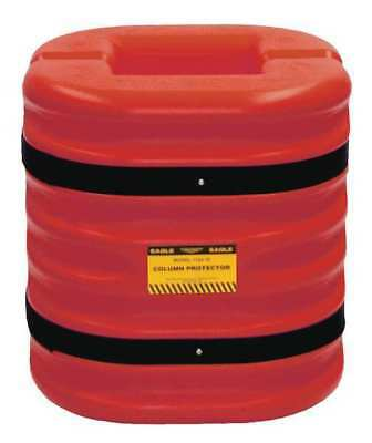 1724-10RED Column Protectr, Fits 10 in., HDPE, Rd