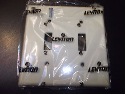 Leviton Light Switch Cover 2 Gang Toggle Plate Double Switch Plate Cover Ivory