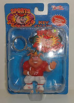 Toybox Sports Hawgs Keychain Boarus Pig Skin 1998 Football