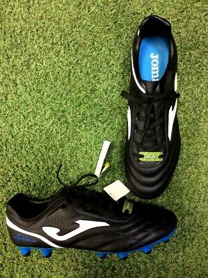 78fabe7edbb5 Joma Aguila 704 Black-Royal Firm Ground Soccer Cleats w/ Blue Bottoms