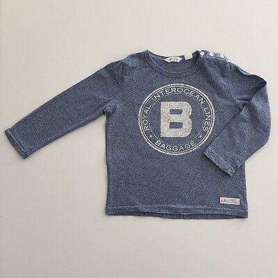 COUNTRY ROAD Boys Size 18-24 months Blue Long Sleeve T Shirt Top EUC