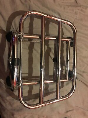 Vespa Sprint/Primavera Chrome Plated Folding Front Rack