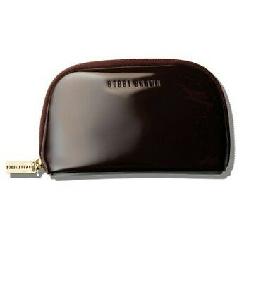 Bobbi Brown Limited Edition Cosmetics Bag Faux Patent Leather W Gold Zipper