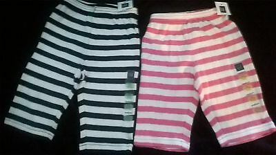 New Baby Gap Striped cotton PANTS 0 3 6 month BLUE PINK RED NAVY boy girl Spring