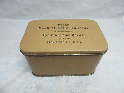 Welsh MFG Co. Eye Protection Devices tin. Providence, RI. EMPTY