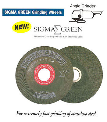 """Rex-Cut Abrasives Sigma Green 4-1/2"""" x 7/8"""" 25 Pack Grinding Discs For Stainless"""