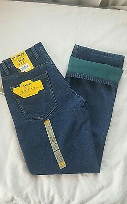 STANLEY  Lined denim jeans regular fit Pants sz 32X34 new