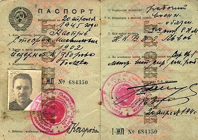 Ussr: Nkvd-Issued Photo Document For A Pole In Lviv, Ukraine (1940) (# 3891)