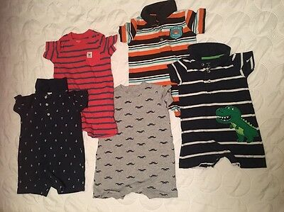 Lot Of Carter's Boys Size 18months-24months One Piece Sets