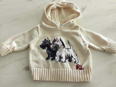 (5% off with code C5OZ) RALPH LAUREN Baby Jumper with Hoodie (Size 3M)