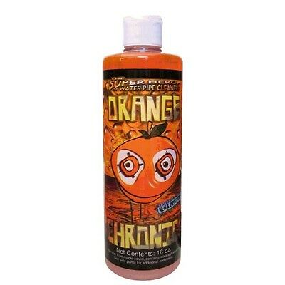 Orange Chronic 16 oz Bottle Pipe Cleaner