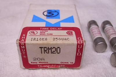 5 Shawmut Gould Trionic TRM-20 Time Delay 20 Amp  Fuses