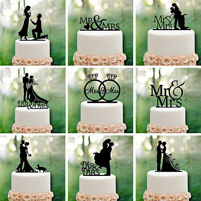 Romantic Acrylic Cake Topper Mr & Mrs Wedding Engagement Party Decoration