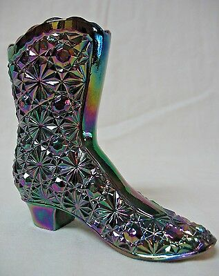 Fenton Purple Carnival Glass Boot
